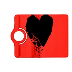 Broken Heart Tease Black Red Kindle Fire Hd (2013) Flip 360 Case by Mariart