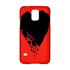 Broken Heart Tease Black Red Samsung Galaxy S5 Hardshell Case  by Mariart