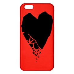 Broken Heart Tease Black Red Iphone 6 Plus/6s Plus Tpu Case by Mariart