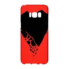 Broken Heart Tease Black Red Samsung Galaxy S8 Hardshell Case  by Mariart