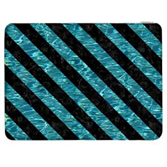 Stripes3 Black Marble & Blue Green Water (r) Samsung Galaxy Tab 7  P1000 Flip Case by trendistuff