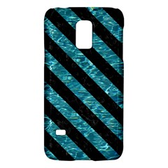 Stripes3 Black Marble & Blue Green Water (r) Samsung Galaxy S5 Mini Hardshell Case  by trendistuff