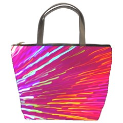 Zoom Colour Motion Blurred Zoom Background With Ray Of Light Hurtling Towards The Viewer Bucket Bags by Mariart