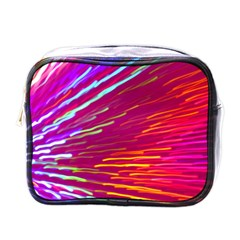 Zoom Colour Motion Blurred Zoom Background With Ray Of Light Hurtling Towards The Viewer Mini Toiletries Bags by Mariart