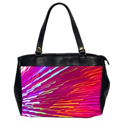 Zoom Colour Motion Blurred Zoom Background With Ray Of Light Hurtling Towards The Viewer Office Handbags (2 Sides)  by Mariart