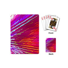 Zoom Colour Motion Blurred Zoom Background With Ray Of Light Hurtling Towards The Viewer Playing Cards (mini)  by Mariart