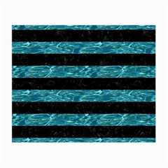 Stripes2 Black Marble & Blue Green Water Small Glasses Cloth by trendistuff