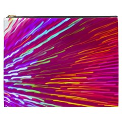 Zoom Colour Motion Blurred Zoom Background With Ray Of Light Hurtling Towards The Viewer Cosmetic Bag (xxxl)  by Mariart