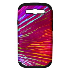 Zoom Colour Motion Blurred Zoom Background With Ray Of Light Hurtling Towards The Viewer Samsung Galaxy S Iii Hardshell Case (pc+silicone) by Mariart