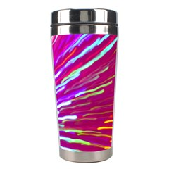 Zoom Colour Motion Blurred Zoom Background With Ray Of Light Hurtling Towards The Viewer Stainless Steel Travel Tumblers by Mariart