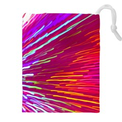 Zoom Colour Motion Blurred Zoom Background With Ray Of Light Hurtling Towards The Viewer Drawstring Pouches (xxl) by Mariart