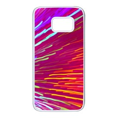 Zoom Colour Motion Blurred Zoom Background With Ray Of Light Hurtling Towards The Viewer Samsung Galaxy S7 White Seamless Case by Mariart
