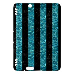 Stripes1 Black Marble & Blue Green Water Kindle Fire Hdx Hardshell Case by trendistuff
