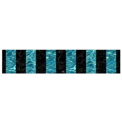 Stripes1 Black Marble & Blue Green Water Flano Scarf (small) by trendistuff