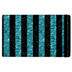 Stripes1 Black Marble & Blue Green Water Apple Ipad Pro 12 9   Flip Case by trendistuff