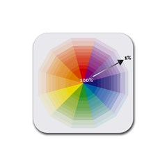 Colour Value Diagram Circle Round Rubber Square Coaster (4 Pack)  by Mariart
