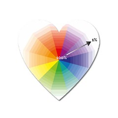 Colour Value Diagram Circle Round Heart Magnet by Mariart