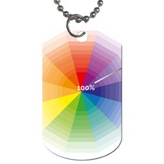 Colour Value Diagram Circle Round Dog Tag (two Sides) by Mariart