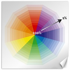 Colour Value Diagram Circle Round Canvas 12  X 12   by Mariart