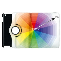 Colour Value Diagram Circle Round Apple Ipad 2 Flip 360 Case by Mariart