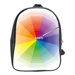 Colour Value Diagram Circle Round School Bags (xl)  by Mariart