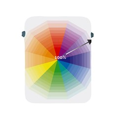 Colour Value Diagram Circle Round Apple Ipad 2/3/4 Protective Soft Cases by Mariart