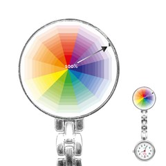 Colour Value Diagram Circle Round Stainless Steel Nurses Watch by Mariart
