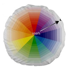 Colour Value Diagram Circle Round Large 18  Premium Flano Round Cushions by Mariart