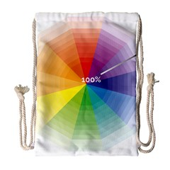 Colour Value Diagram Circle Round Drawstring Bag (large) by Mariart