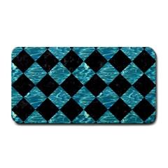 Square2 Black Marble & Blue Green Water Medium Bar Mat by trendistuff