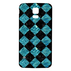 Square2 Black Marble & Blue Green Water Samsung Galaxy S5 Back Case (white) by trendistuff