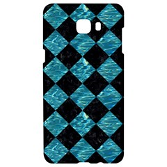 Square2 Black Marble & Blue Green Water Samsung C9 Pro Hardshell Case  by trendistuff
