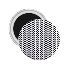 Chevron Triangle Black 2 25  Magnets by Mariart