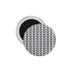 Chevron Triangle Black 1 75  Magnets by Mariart