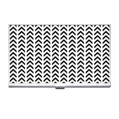 Chevron Triangle Black Business Card Holders by Mariart