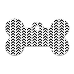 Chevron Triangle Black Dog Tag Bone (two Sides) by Mariart