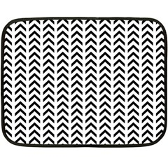 Chevron Triangle Black Double Sided Fleece Blanket (mini)  by Mariart