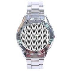 Chevron Triangle Black Stainless Steel Analogue Watch by Mariart