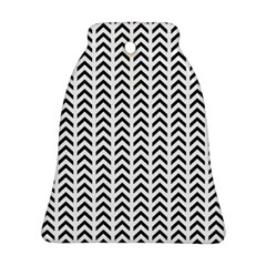 Chevron Triangle Black Bell Ornament (two Sides) by Mariart