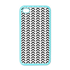 Chevron Triangle Black Apple Iphone 4 Case (color) by Mariart