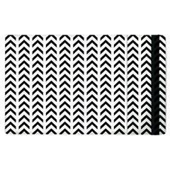 Chevron Triangle Black Apple Ipad 2 Flip Case by Mariart