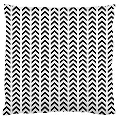 Chevron Triangle Black Large Flano Cushion Case (one Side) by Mariart