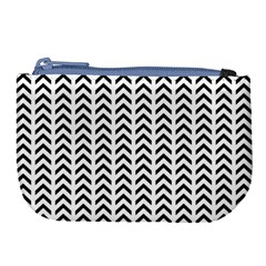 Chevron Triangle Black Large Coin Purse by Mariart