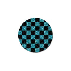 Square1 Black Marble & Blue Green Water Golf Ball Marker (10 Pack) by trendistuff
