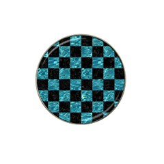 Square1 Black Marble & Blue Green Water Hat Clip Ball Marker (4 Pack) by trendistuff