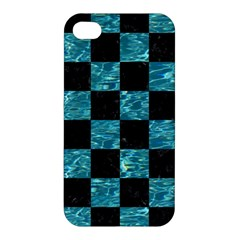 Square1 Black Marble & Blue Green Water Apple Iphone 4/4s Hardshell Case by trendistuff