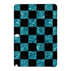 Square1 Black Marble & Blue Green Water Samsung Galaxy Tab Pro 12 2 Hardshell Case by trendistuff