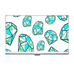 Brilliant Diamond Green Blue White Business Card Holders by Mariart