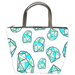 Brilliant Diamond Green Blue White Bucket Bags by Mariart