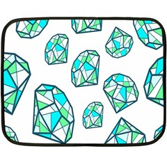 Brilliant Diamond Green Blue White Fleece Blanket (mini) by Mariart
